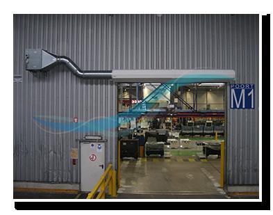 Benefits & Industrial air curtain opens doors - AFIM Air Doors