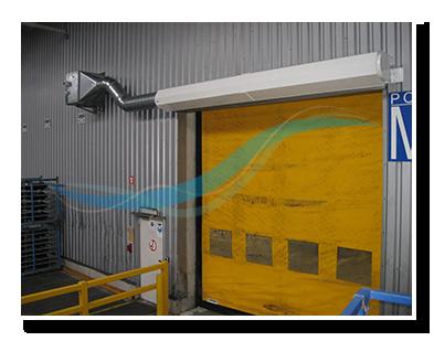 Industrie luchtgordijn bij snelloopdeur 2