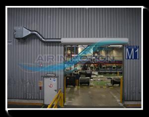 Industrie Luftschleier Lufttür Luftvorhange 1
