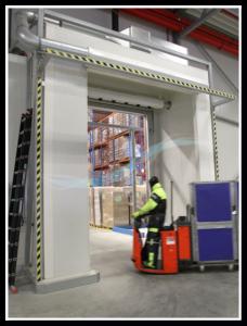 Lufttür Luftschleier Luftvorhange Vorteil Tiefkühllager