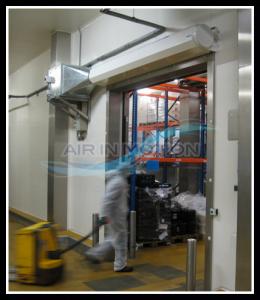 Unsichtbare Kühlzellentür zum schnelleren Transport Lufttür luftvorhange