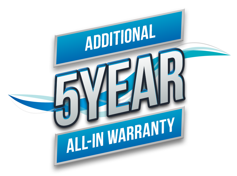 5 year all-in warranty